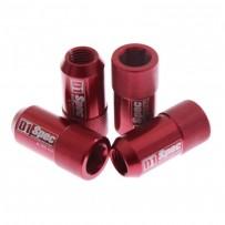 D1 SPEC Nakrętki do felg M12x1,25 imbusowe czerwone