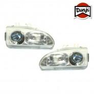 DENJI GEN 1 Chrome Reflektory Honda Civic 1992-95 2/3/4D