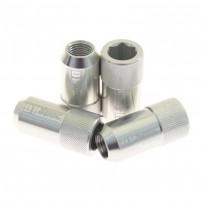 D1 SPEC Nakrętki do felg M12x1,25 imbusowe srebrne